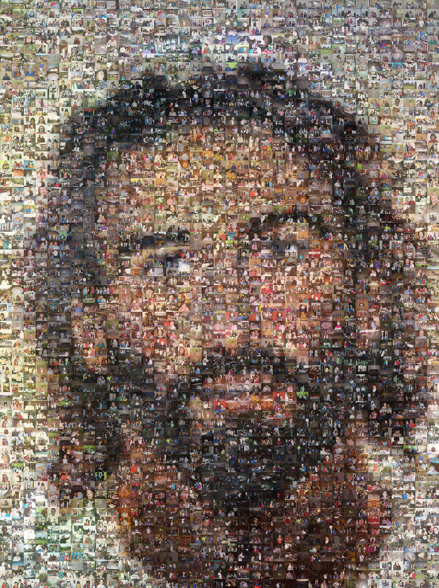 photo mosaic created using 2019 religious member photos