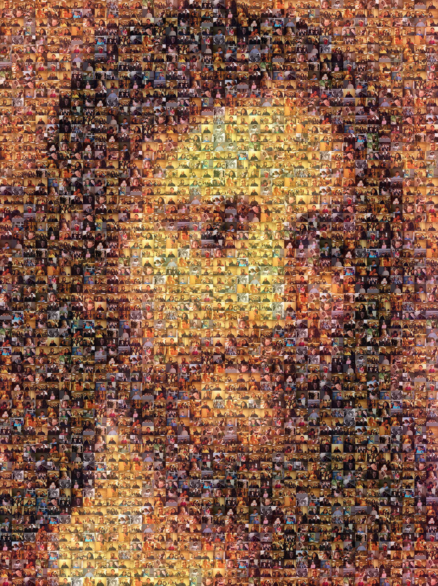 photo mosaic created using only 106 church photos