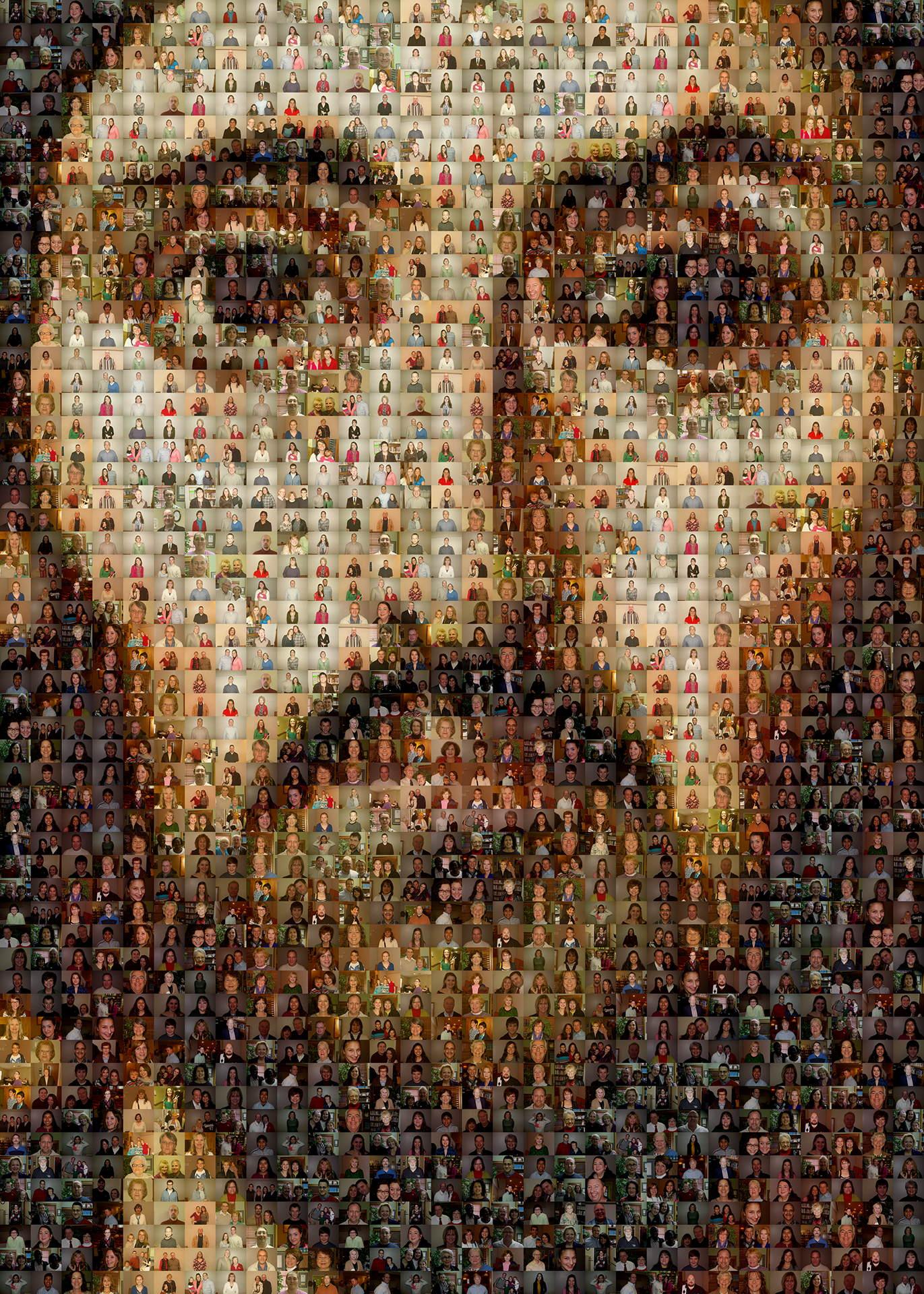 Picture Mosaics Jesus Tempera On Wood Photo Mosaic