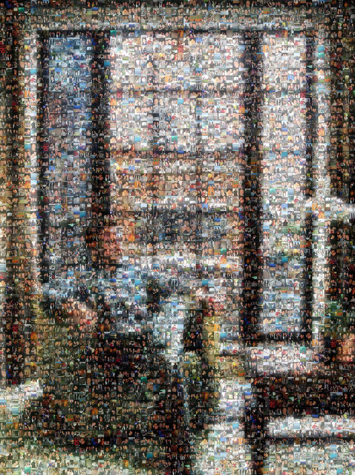 photo mosaic created using 387 customer selected photos