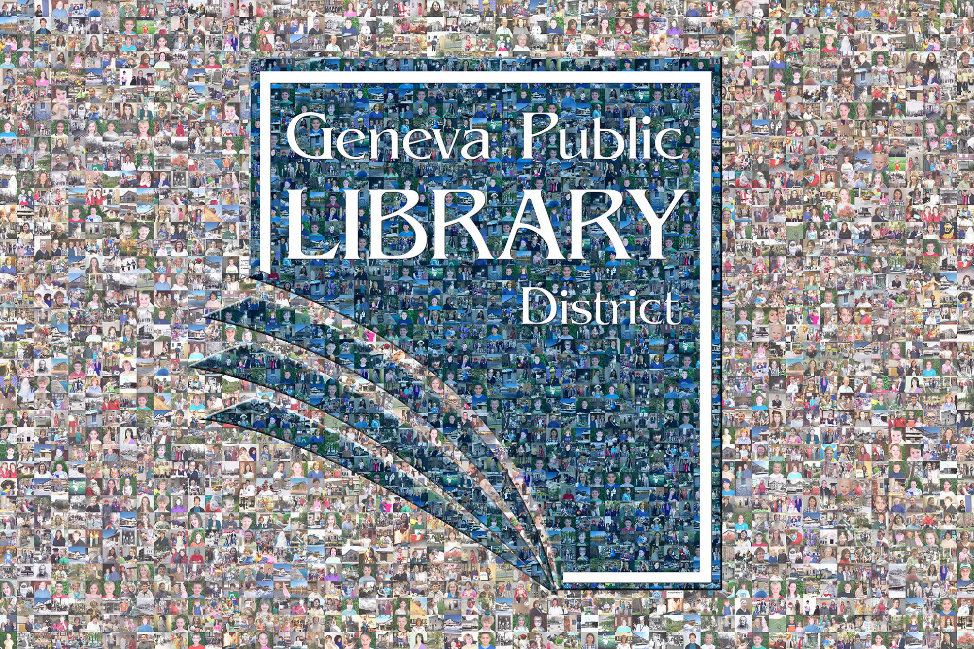photo mosaic this public library used 610 photos of its members to create this tiered mosaic