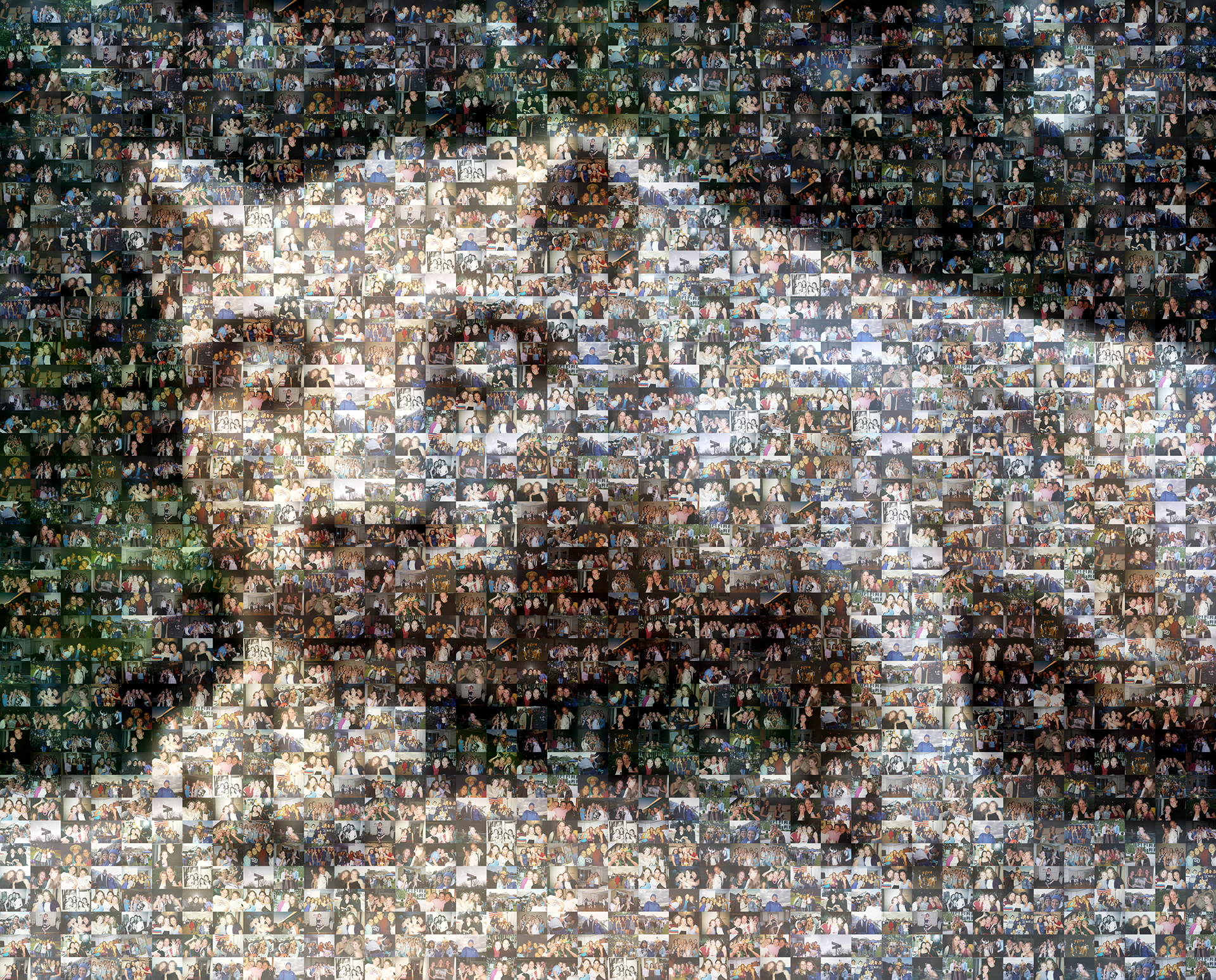 photo mosaic created using 92 college life photos