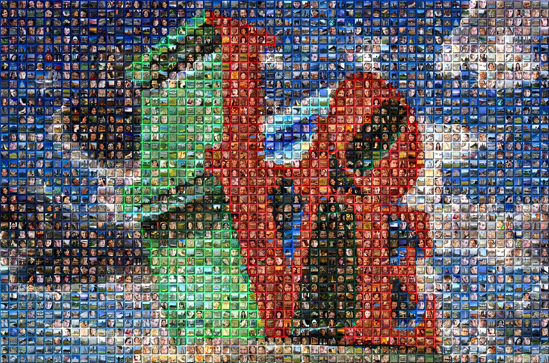 photo mosaic This 3-D raised cell mosaic was created using 600 cells pick from our cell libraries