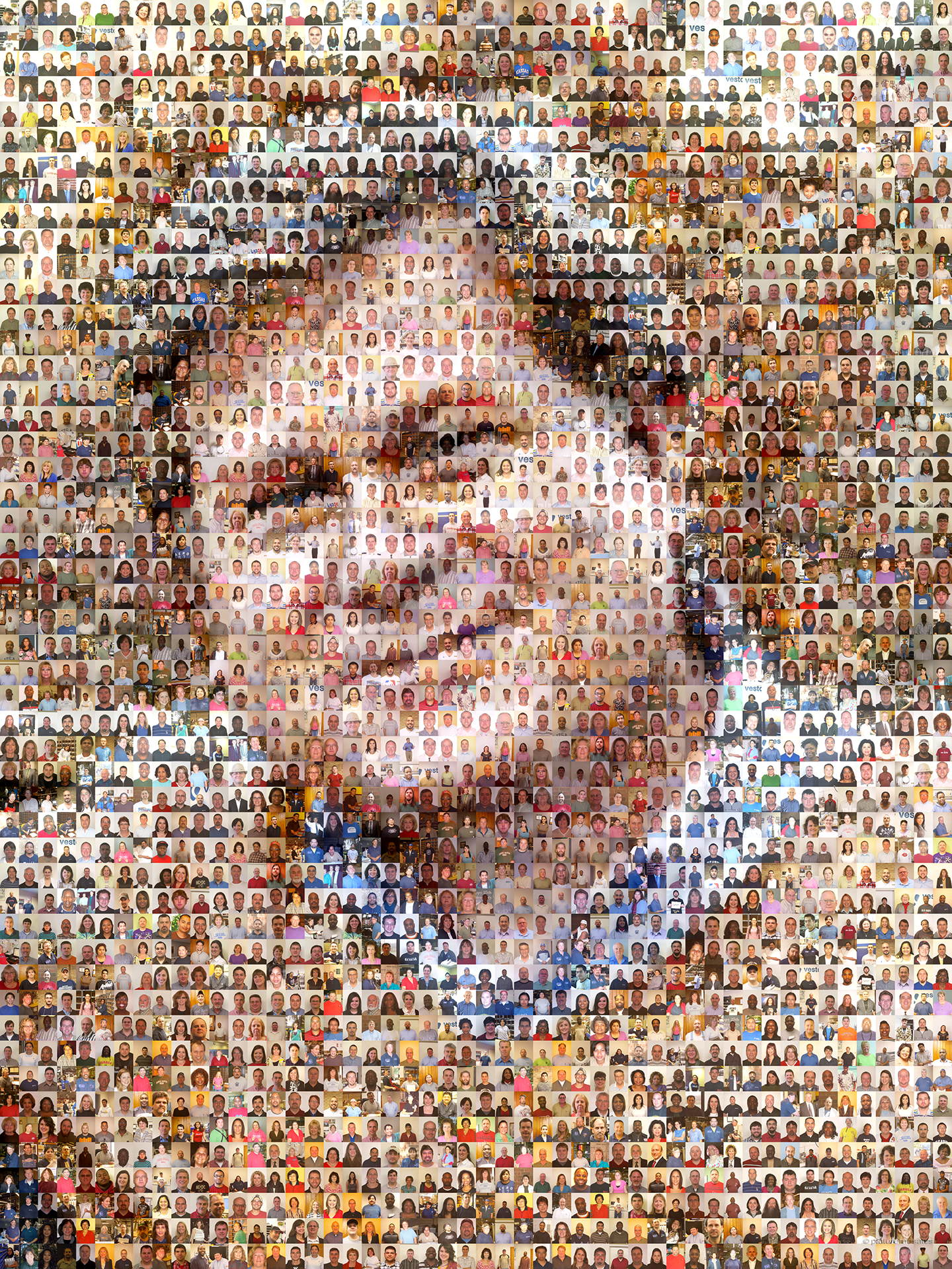 photo mosaic created using 956 company photos