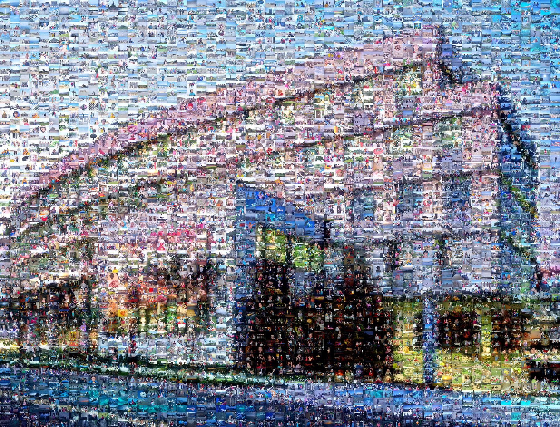 photo mosaic This corporate building was created using 3,628 photos