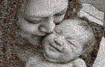 this beautiful mosaic was created using 1537 family photos