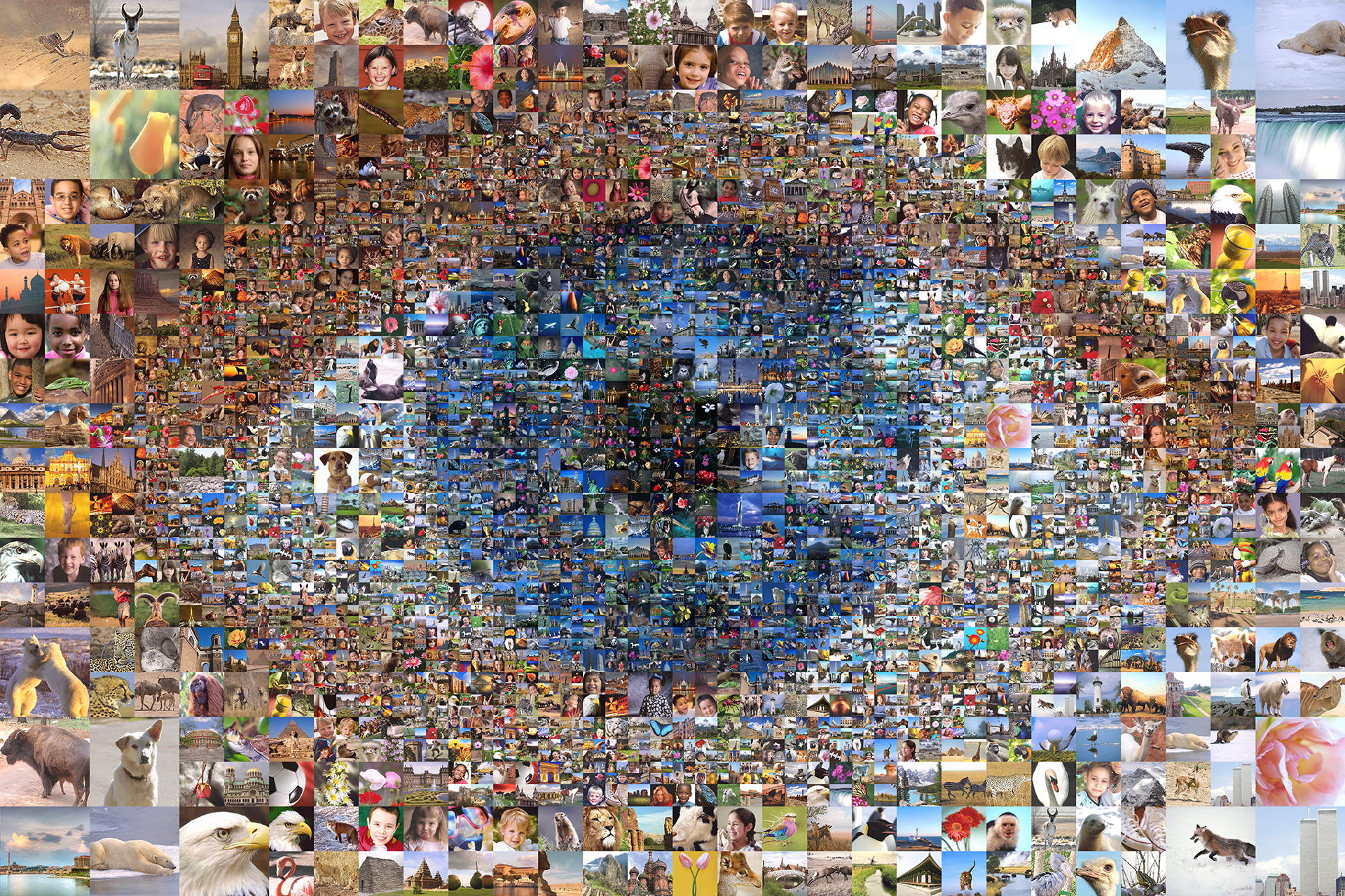 photo mosaic This eye was created using approximately 1400 photos from everyday life.