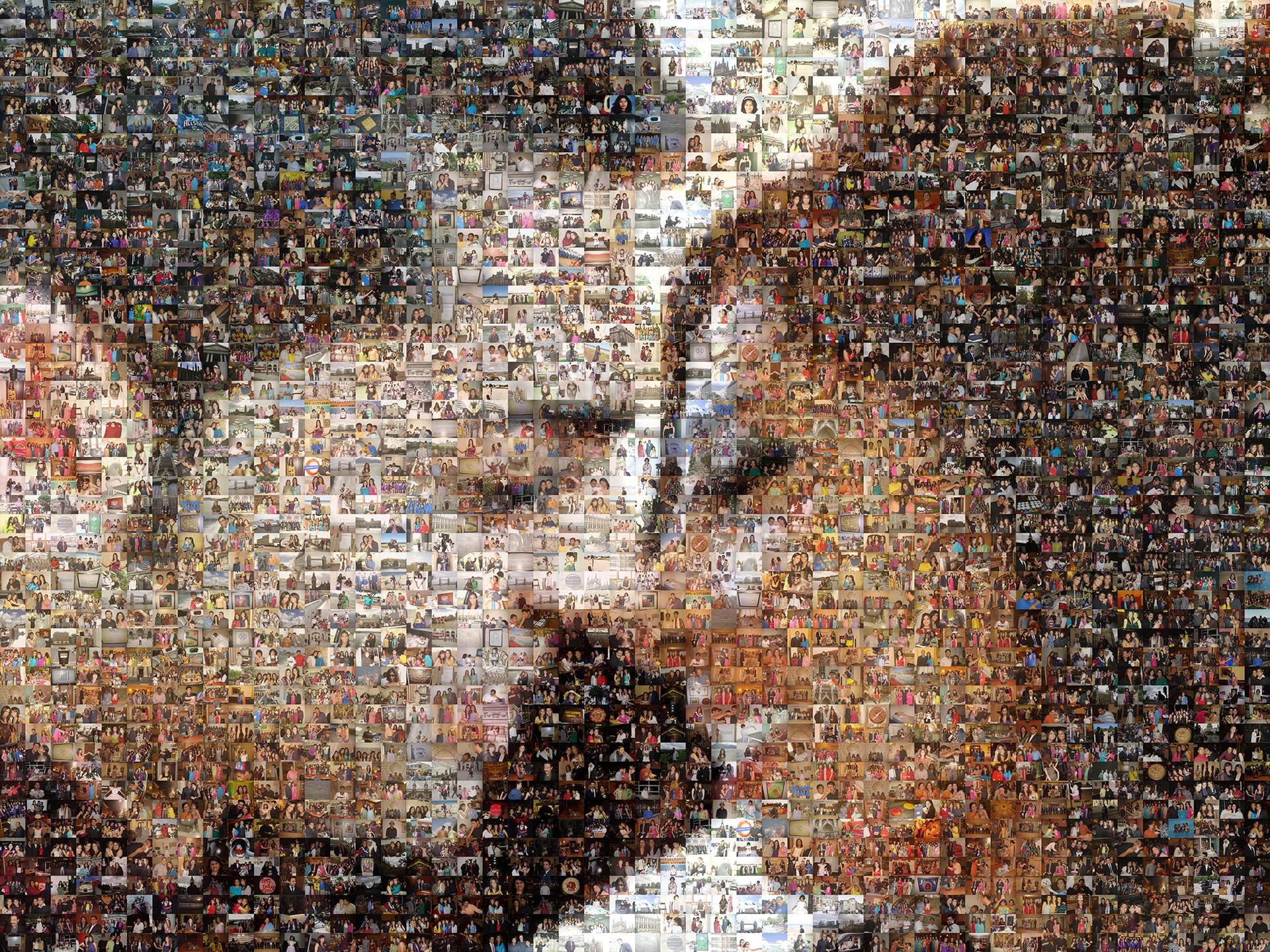 photo mosaic created using over 1,600 customer selected photos