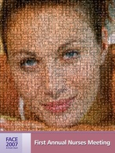 Corporate mosaic poster created using 350 customer selected photos