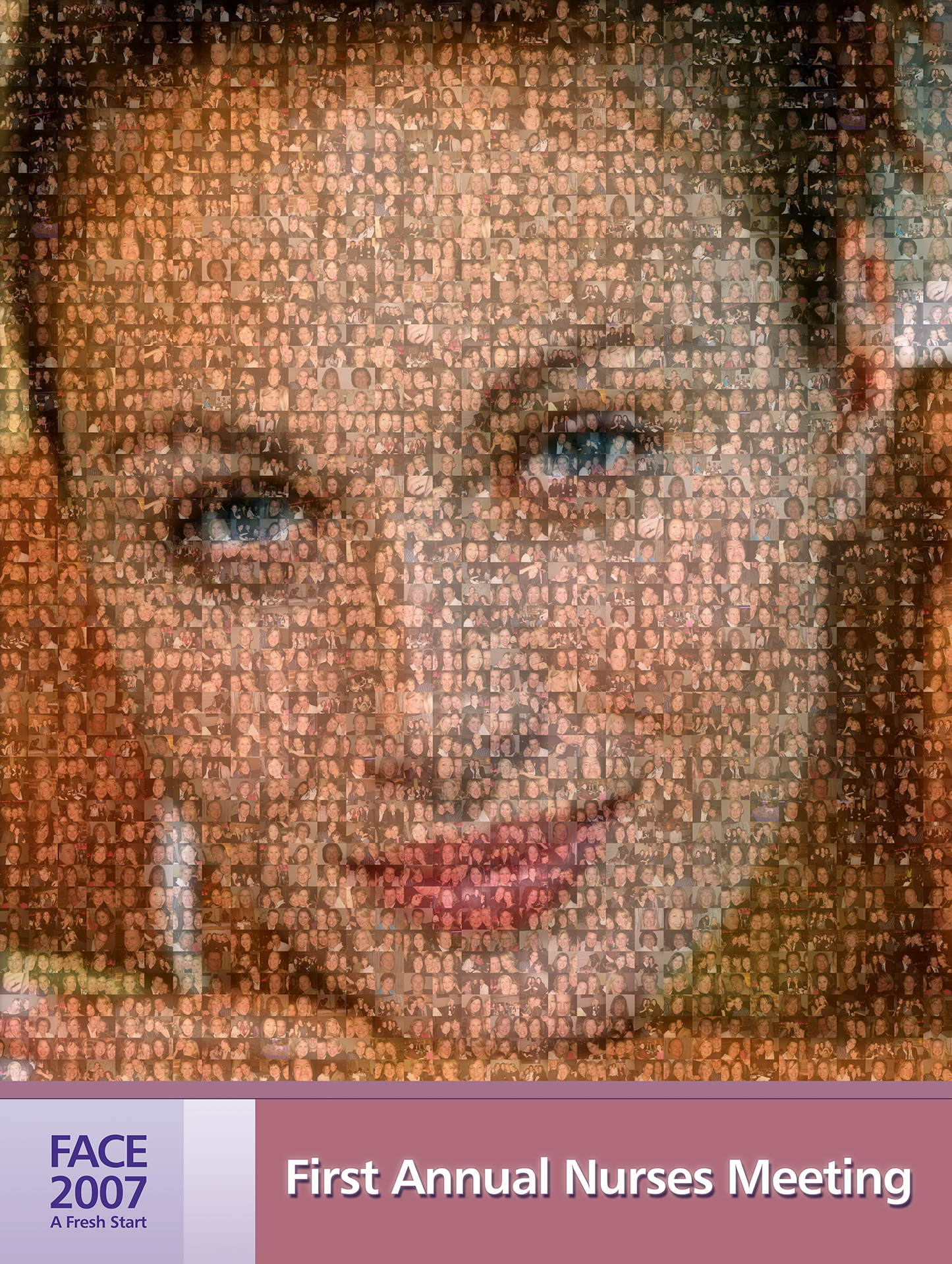 photo mosaic Corporate mosaic poster created using 350 customer selected photos