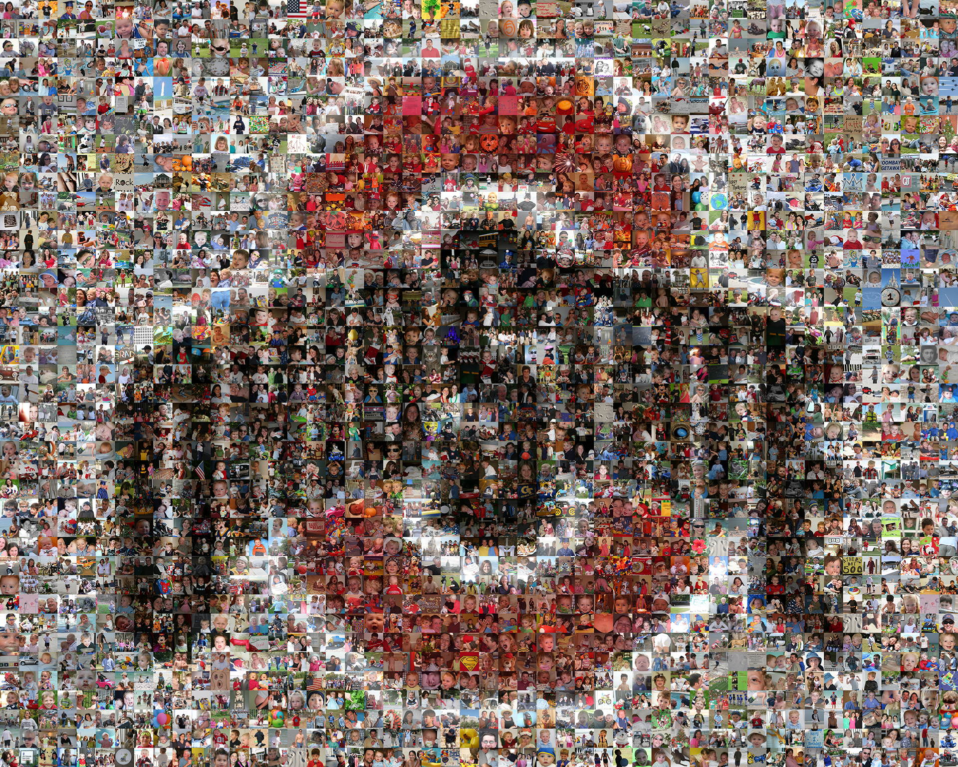 photo mosaic created using over 2,500 user submitted photos