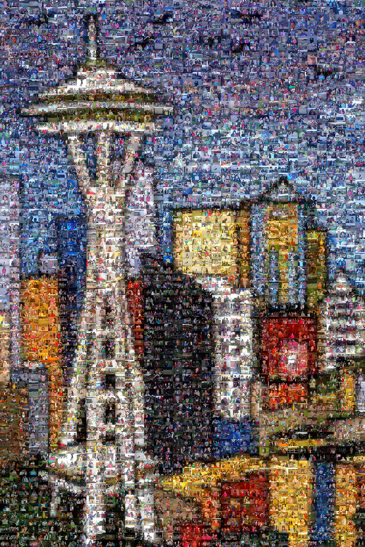photo mosaic created using 1323 photos each only used once