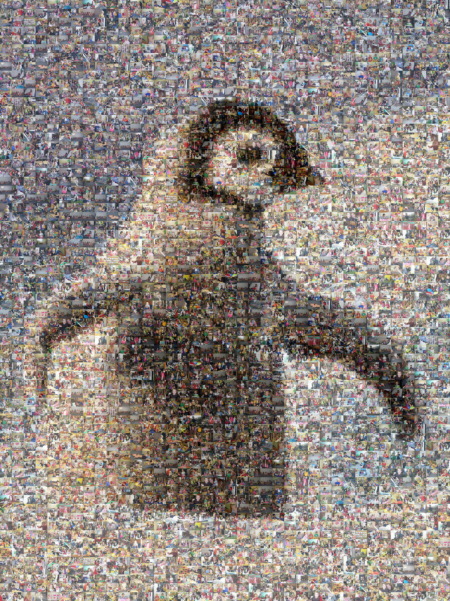 photo mosaic using 443 customer and employee photos