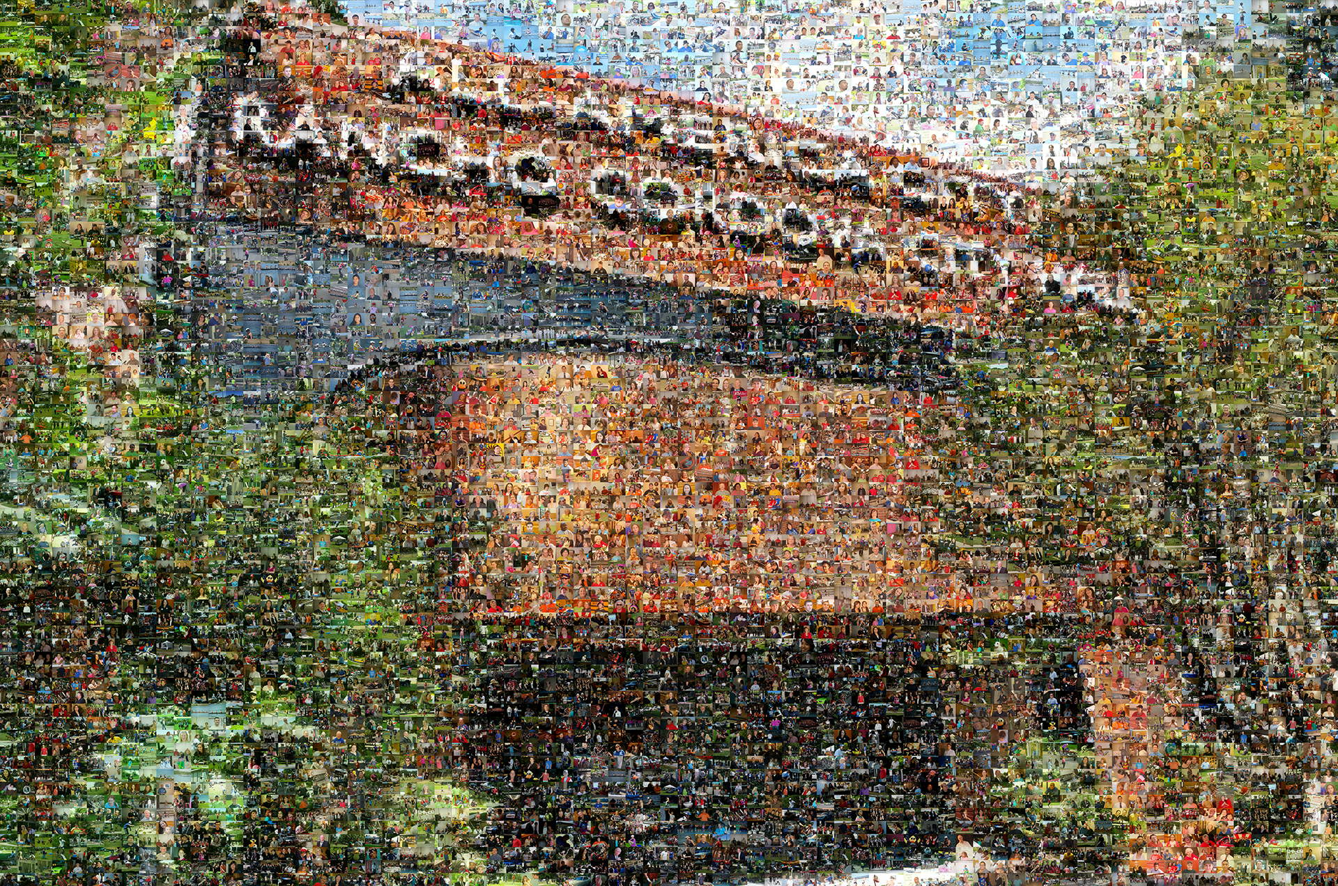 photo mosaic created using over 5180 event photos