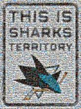 over 650 fan submitted photos make up this San Jose Sharks mosaic
