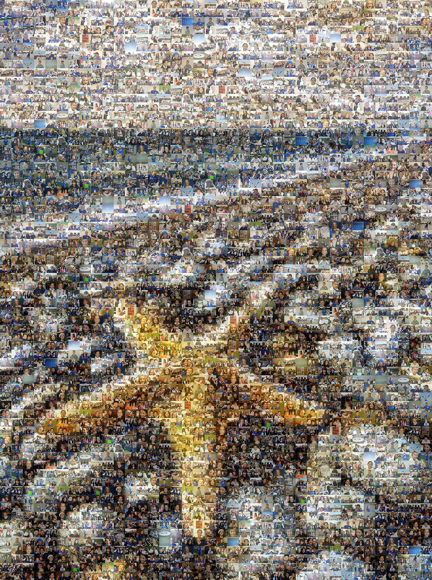 photo mosaic created using 269 photos taken over the school year