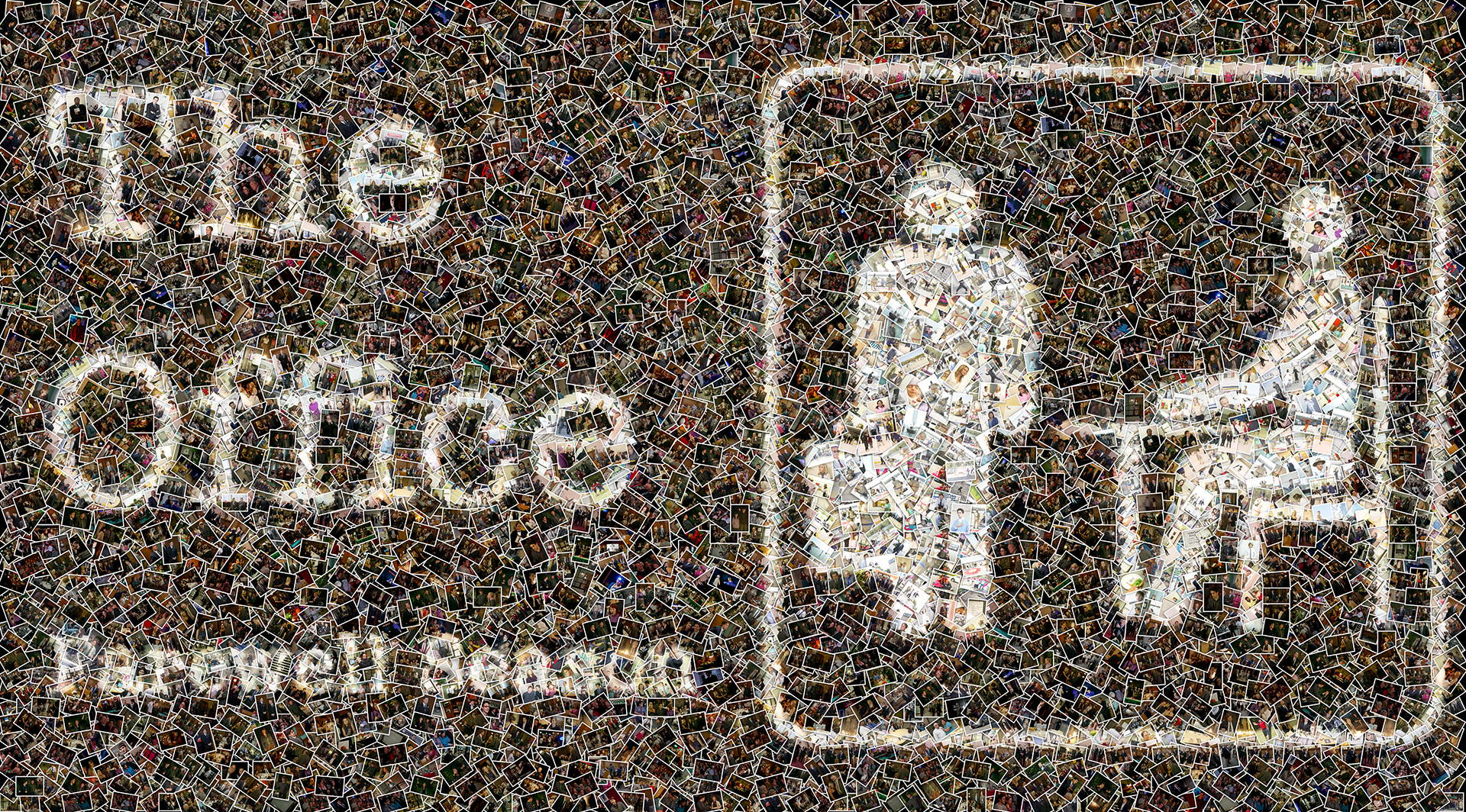photo mosaic over 4600 stills from NBC's The Office were used to create this farewell season mural
