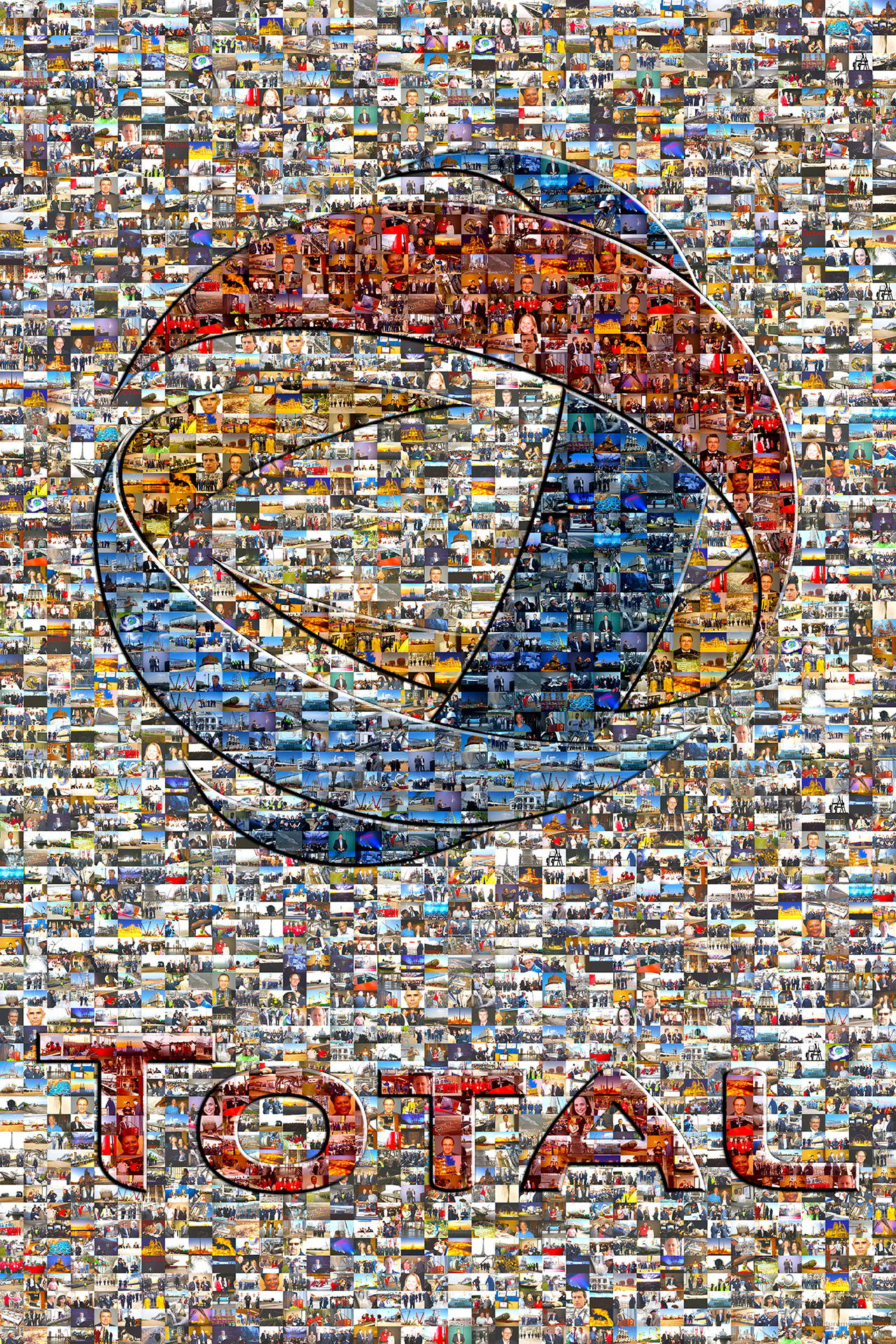 Examples Of Social Policy >> Picture Mosaics - Total Petrochemicals Logo Photo Mosaic