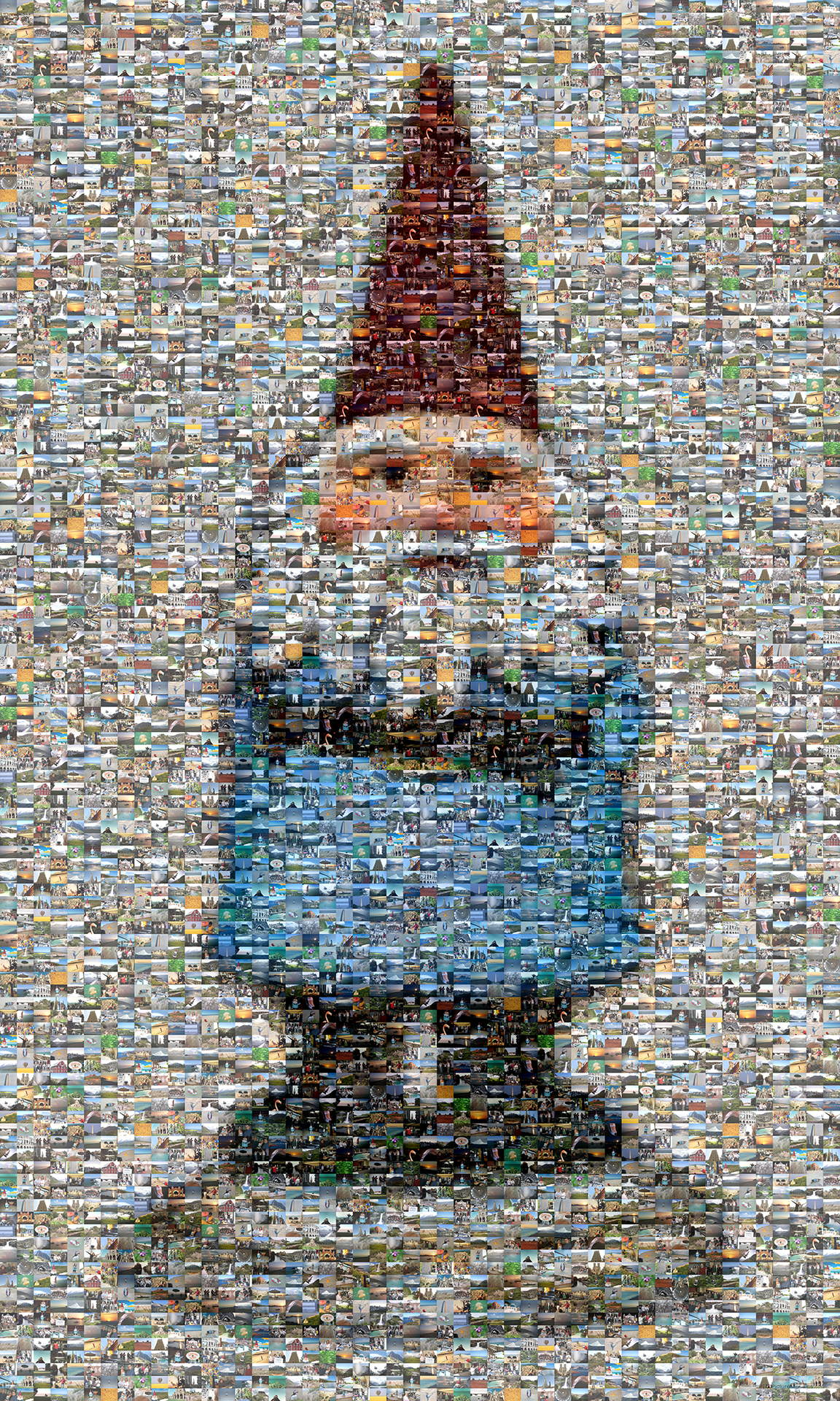 photo mosaic created using 182 customer submitted vacation photos