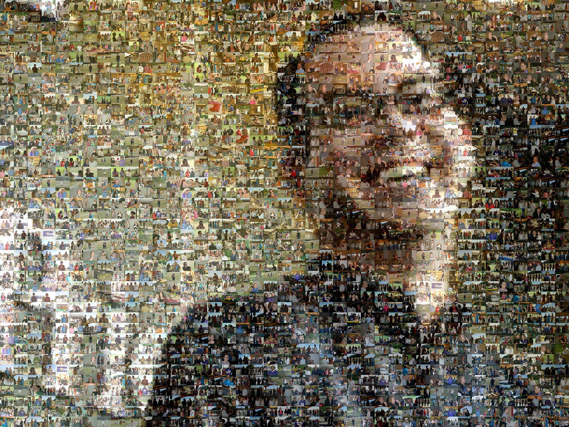 photo mosaic created using 851 corporate photos