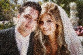 Using our new Scatter V.2 (Beta) technology, 1500 unique wedding photos selected by the photographer were arranged in a chaotic yet structured manor to create this vibrant mosaic