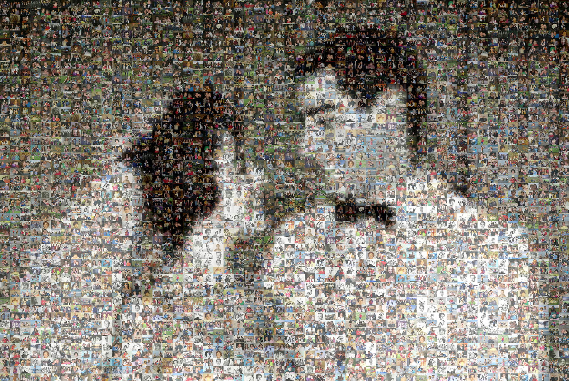 photo mosaic created using 607 lifetime photos