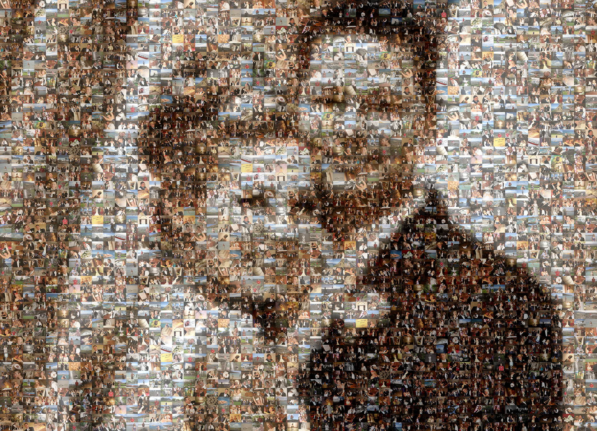 photo mosaic created using 270 lifetime photos