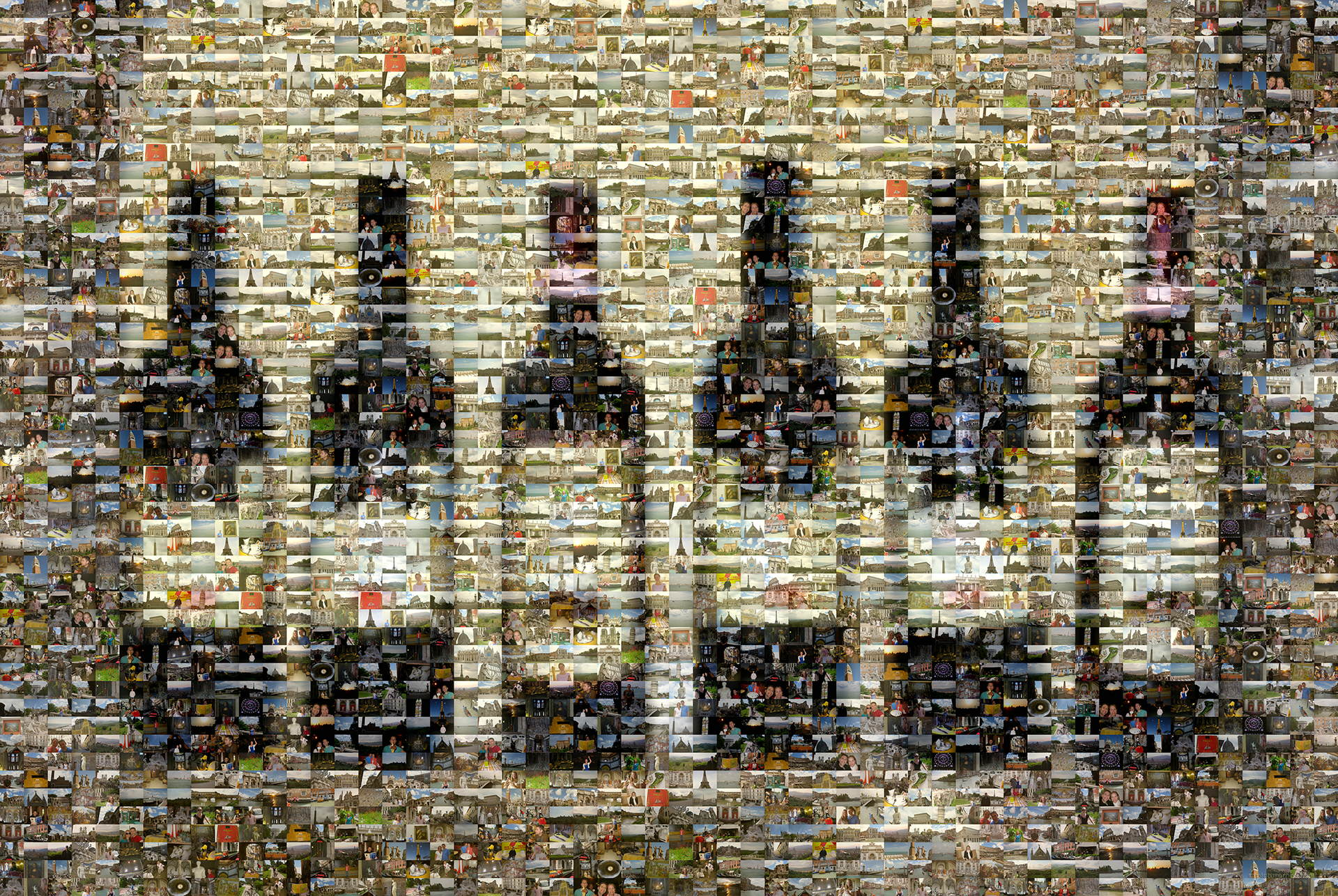 photo mosaic created using 236 customer selected photos