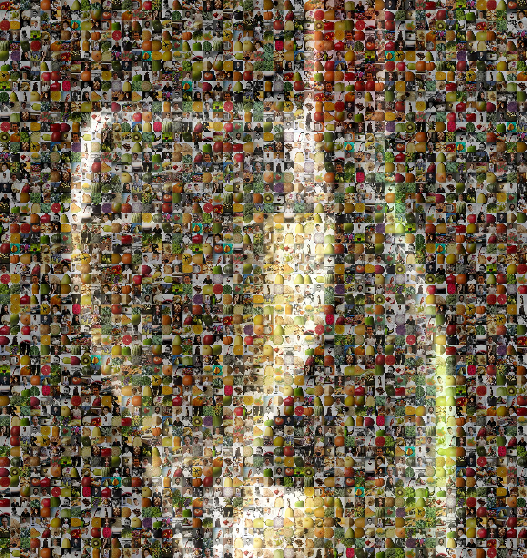 photo mosaic created using 144 product photos