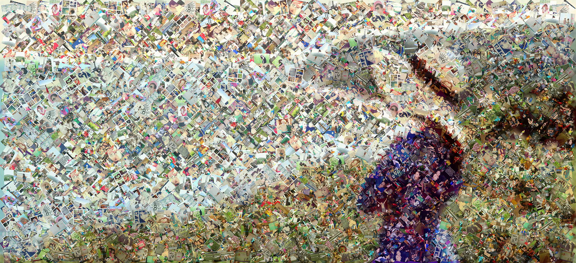 photo mosaic created using over 600 photos of family and friends