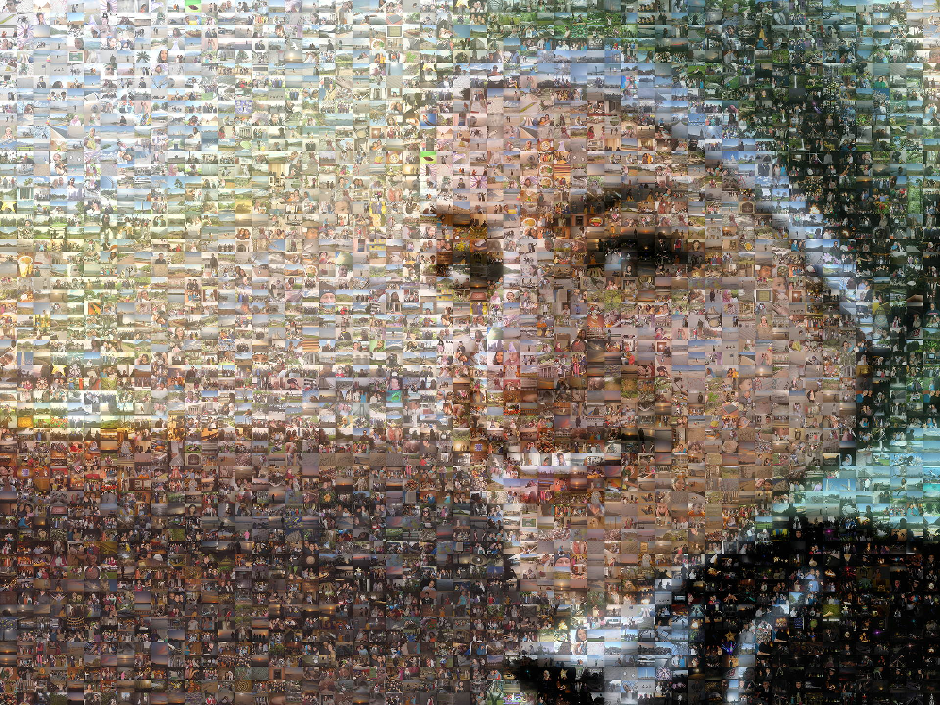 photo mosaic created using 3,061 user submitted photos