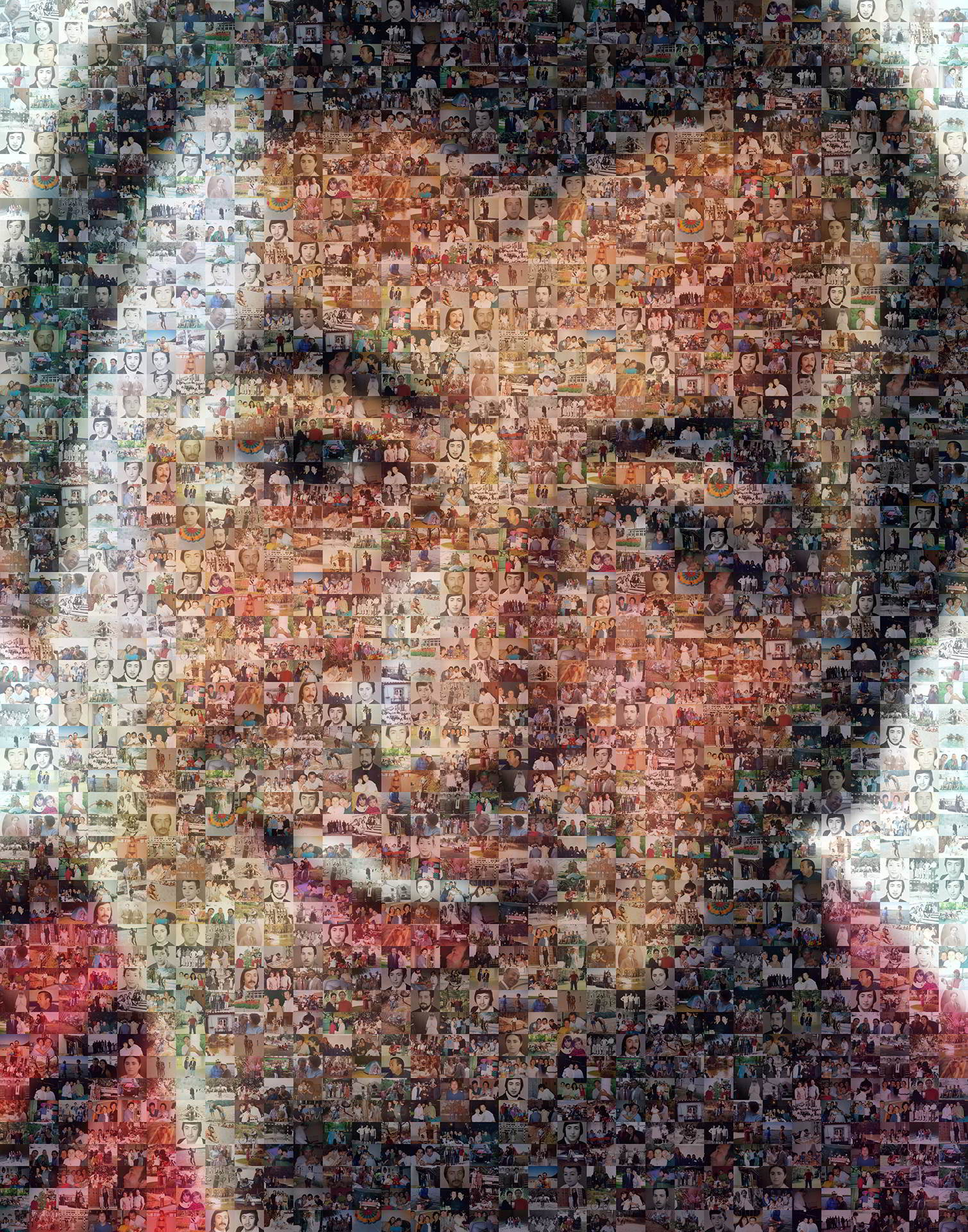 photo mosaic created using only 195 photos from past to present